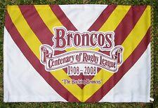 BRISBANE BRONCOS NRL Flag Centenary 900mm x 600mm Large  - NEW!