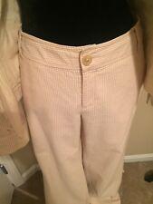BANANA REPUBLIC Womens Seersucker Beige and Ivory Pants Sz 10