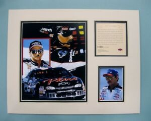 1998 DALE EARNHART SR #3 Nascar 11x14 MATTED Kelly Russell Lithograph Print