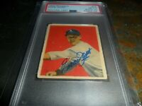 1949 Bowman #55 Autograph Eddie Joost Philadelphia 1.5 PSA/DNA AUTO 10 D.2011