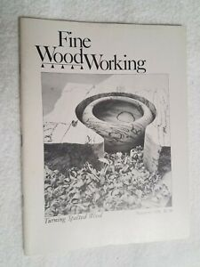 Fine WoodWorking Turning Spalted Wood Summer 1978 Number 11 Vintage Good Copy