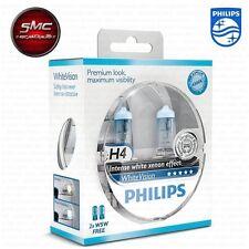 AUTOLAMPE PHILIPS WHITE VISION H4 12V 60-55W + 60% 4300K + 2 STANDLICHTER W5W.