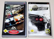 2 PSP juegos bundle-need for speed Pro Street & Most Wanted 510-PlayStation