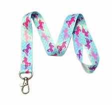 Unicorn Print Lanyard Key Chain Id Badge Holder