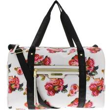 Juicy Couture Womens Rosie White Satin Weekender Bag Purse Extra Large BHFO 9689