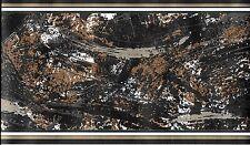 Modern Paint Strokes, Black,Brown, Gold, Grey WALLPAPER BORDER