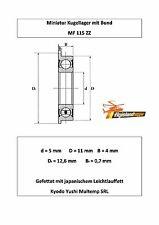 10x Bund Kugellager MF 115 ZZ 5x11x4 mm Flange Bearing Flansch Kugellager