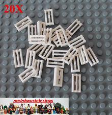 20x Lego 2412 Grille Carreau Grille Carreau Tile 1x2 Blanc White Neuf