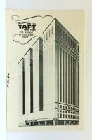 New York City NY Hotel Taft Vintage Postcard