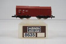 Z Marklin Mini-Club 8635 Db Telescoping Covered Coil Wagon Car European Freight