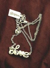 """Brighton Jewelry Silver """"Love"""" Necklace"""