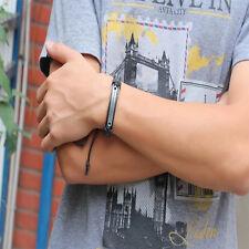 New Handmade Men Cuff Surfer Tribal Hemp braided Wrap Wrist Leather Bracelet