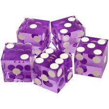 19mm A Grade Serialized Set of Casino Dice Set of 5 for Games Casino Quality