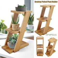 New 1PC 3 Tiers Indoor Plant Flower Pot Planter Stand Assembly Wood Holder  UK