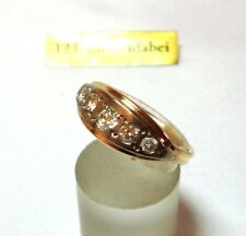 russischer Brillant Ring 583 Rotgold 583 Gold Diamant zus. 0,80 ct / BT 760