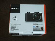 New Unsealed Sony Alpha a5000 Black 20.1MP Mirrorless Camera + 16-50mm OSS Lens