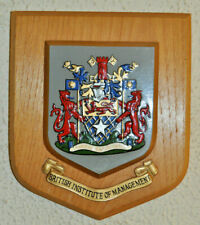British Institute of Management wall plaque shield coat of arms Institution