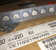 Sanyo 50cv220ax Aluminum Electrolytic Capacitor Smd 220uf 50v 20 New Qty5