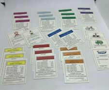 Scooby Doo Monopoly Replacement Deed Cards COMPLETE