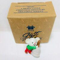 Avon A Merry Little Christmas Miniature Ornament Jingles in Box