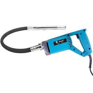 850W Electric Concrete Vibrator Hand Held Button Lock Bubble Remover + 1.2M Hose