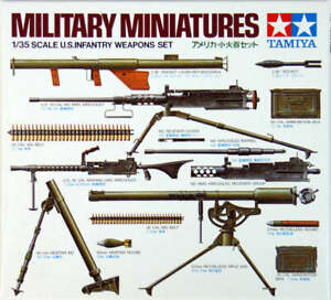 Tamiya Military Miniatures 1/35 Scale US Infantry Weapons Set Model Kit 35121