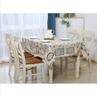 1 Pc New World Map Linen Table Cotton Cloth Dinning Coffee Covering Home Kitchen