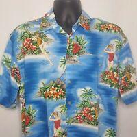 Hawaiian Shirt Aloha Wahine Girls Plumeria Island Size M Rayon Button Front