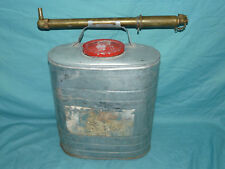 Vintage Antique INDIAN D.B. Smith Backpack FIRE EXTINGUISHER Tank & Brass Nozzle