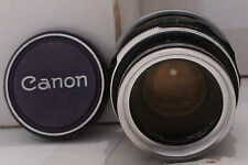 Canon Film Camera Lens FL 50mm 1:1.8- +Filter & Cap Made in Japan TESTED