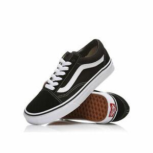 Neu Herren DamenVans Old Skool Schwarz Weiß Sneaker Herren Skate Schuhe EU36-44