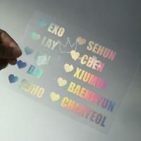 2019 Kpop EXO Lightstick Laser Sticker Sehun Chen Lay Xiumin Phone Case Stickers
