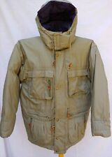 ALASKA DOWN & LEATHER WINTER PARKA COAT DOWN INSULATION LINING COTTON GREEN