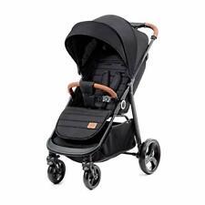 Kinderkraft Lightweight Stroller Grande Stylish Pushchair Baby Buggy - Black