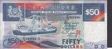 Singapore $50  ND. 1987  P 22b  Prefix C/15  Circulated Banknote