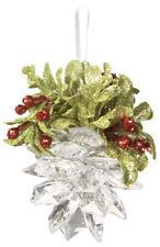 Ganz H9 Wedding Christmas Kissing Krystals 4.5in Mistletoe Pinecone Ornament