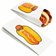 100-Pack Disposable Hot Dog Paper Bags Foil Sleeve Wrappers for Carnival Parties