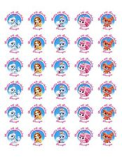 60 Palace Pets Birthday Stickers Lollipop Labels Party Favors 1.5 in ANY VARIETY