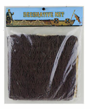 10' Feet x 10' Feet Brown Authentic Fishing Net Decorative Boats Shells Crafts