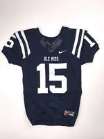 New Nike Mississippi Ole Miss Rebels Football Game Jersey Boys Medium Navy $100