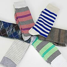6Pairs KOREA FINEFIT MEN'S Casual Stripe Fancy Colorful Grid Cotton Dress Sock