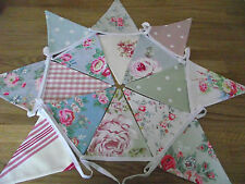 HANDMADE SHABBY CHIC GARDEN BEDROOM BUNTING CATH KIDSTON LAURA ASHLEY COTTON