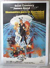 DIAMONDS ARE FOREVER orig movie poster 1971 Spanish LINEN CONNERY James BOND 007