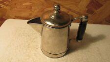 Vintage Chrome & Wood Handle Tea Pot