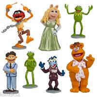 Disney Set (7) MUPPETS FIGURINE PLAYSET TOYS Kermit Animal Miss Piggy Gonzo +
