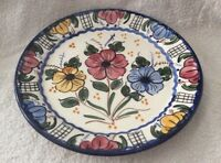 VINTAGE LARGE CONTINENTAL HAND MADE DECORATIVE POTTERY PLATE - MARTINEZ