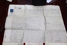 VELLUM INDENTURE CONVEYANCE DOCUMENT - DATED CIRCA 1854