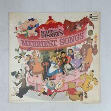 WALT DISNEY Merriest Songs DL3510 AudioMatrix LP Vinyl VG+ Cover Shrink