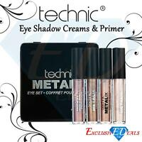 Technic Metalix Eye Kit Eye Shadow Creams & Primer (4ml) Gift Set Makeup