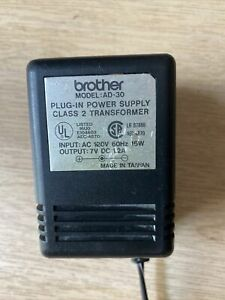 Genuine Brother AD-30 AC Adapter Charger, 7V 1.2A 16W Power Supply